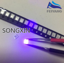 4000 adet diyot 2835 3528 SMD UV LED mor lamba boncuk 395   410nm ultraviyole ışık yayan diyotlar Ultra Violet SMT LED boncuk lamba