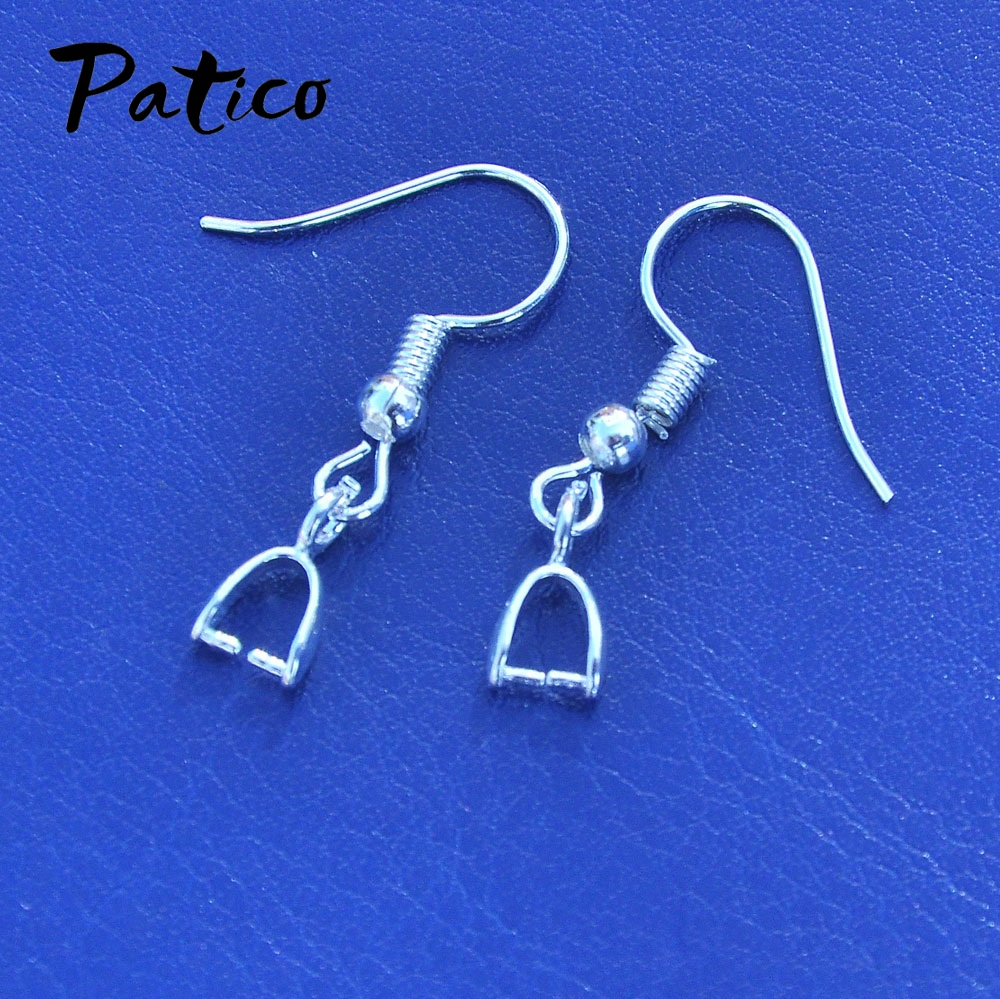 925 Sterling Silver Hook Earring Fashion Setting DIY Jewelry Clasp Base Earring Wires Handmade Latest Mode 20pcs/lot