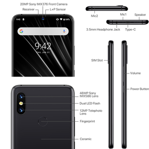 "Image 3 - Global 4G UMIDIGI S3 Pro Android 9.0 Mobile Phone 48MP+12MP+20MP 5150mAh Super Power 128GB 6GB 6.3"" FHD+ NFC Dual SIM Smartphone"