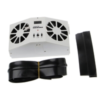 Mini Air Conditioner For Car Solar Power Window Windshield Auto Air Vent Cooling Exhaust Dual Fan