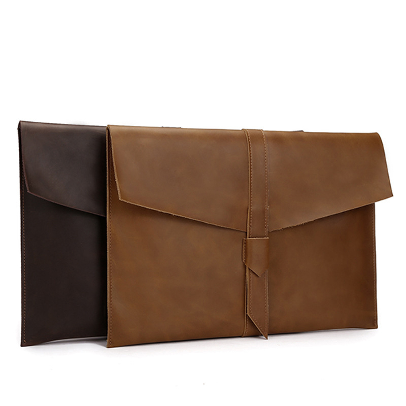 A4 Leather Folder Documents Folder Nature Leather File Storage Bag A4 Office Supplies Organizer File Bag Organiseur Document