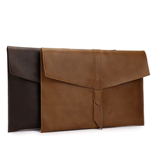купить A4 Leather Folder Documents Folder Nature Leather File Storage Bag A4 Office Supplies Organizer File Bag Organiseur Document по цене 1484.91 рублей