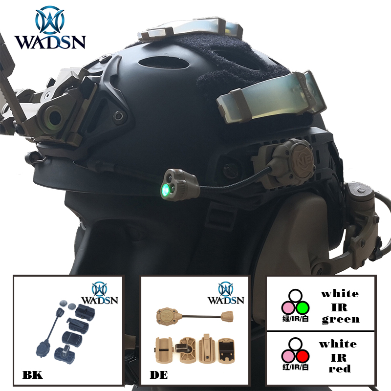 WADSN Princeton Tec MPLS 3 Tactical Helmet Light Military Hunting Airsoft Illumination Lighting System WNE05015 Weapon Lights-in Weapon Lights from Sports & Entertainment