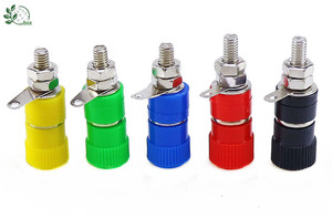 Клеммные колодки 10 шт., клеммные колодки 4 мм, клеммные коннекторы с усилителем, клеммные колодки с разъемом типа «банан», 5 цветов по 2 шт.