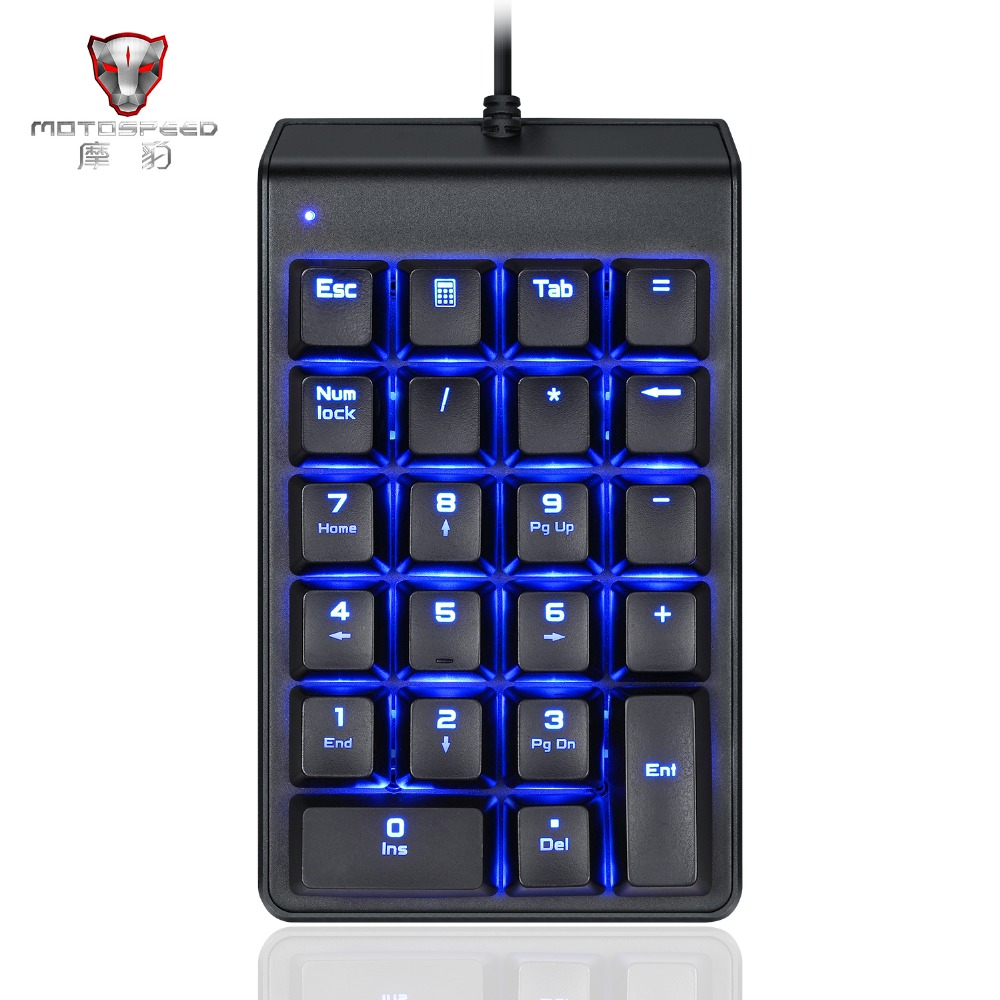 MOTOSPEED Wired Mechanical Numeric Keypad 22 Keys Outemu Switches Backlight mini Keyboard Red Switch