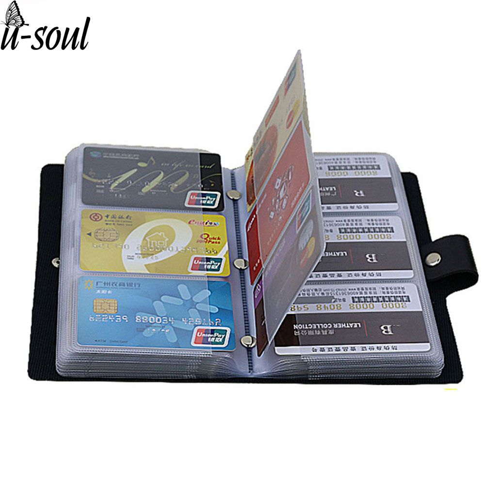 Business Card Holder Black 156 Bank Women&Men Card Bags Name Id Business Leather Credit Card Case Card Holder Ls8916fb mini metal business name card case id credit card holder bank card holder waterproof business cards organizer office supplies