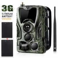 2PCS 5000Mah Recharger Battery 3G Cellular Hunting Trail Camera MMS SMTP Email 16MP 1080P HC801GLI Mobile Wild Surveillance