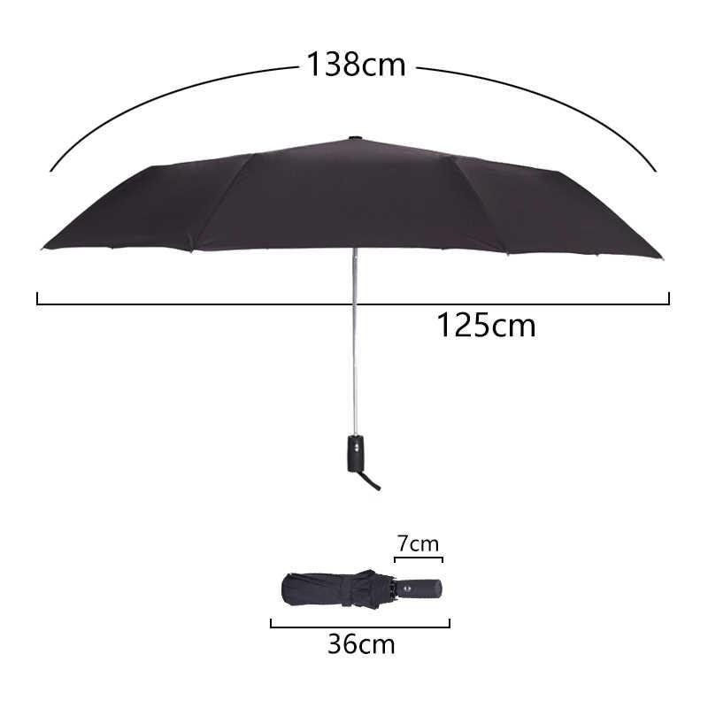 125 см ветрозащитный автоматический зонт для мужчин бренд большой складной зонт дождь женщина двойной гольф бизнес Автоматический Автомобиль Зонты