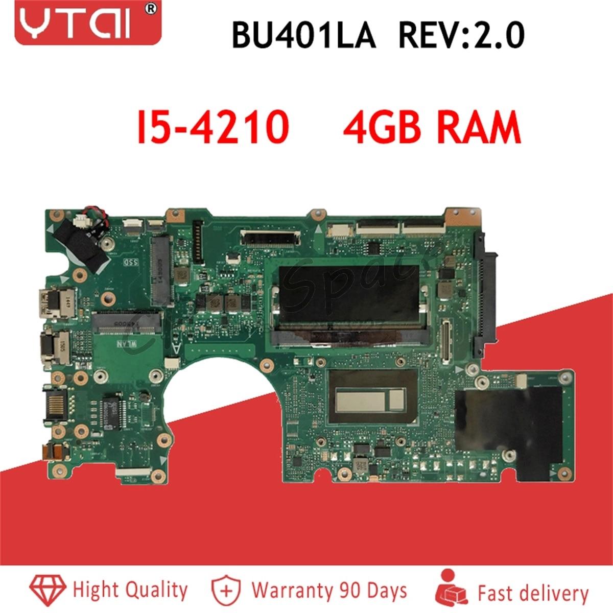 BU401LA Материнская плата Процессор I5 4210 4 Гб ram материнская плата для ASUS BU401L BU401LA ноутбук материнская плата