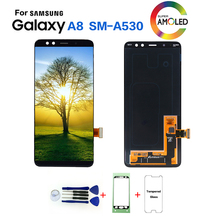 AMOLED для samsung Galaxy A8 SM-A530F дисплей ЖК-экран Замена для samsung A8 SM-A530N A530W ЖК-дисплей модуль
