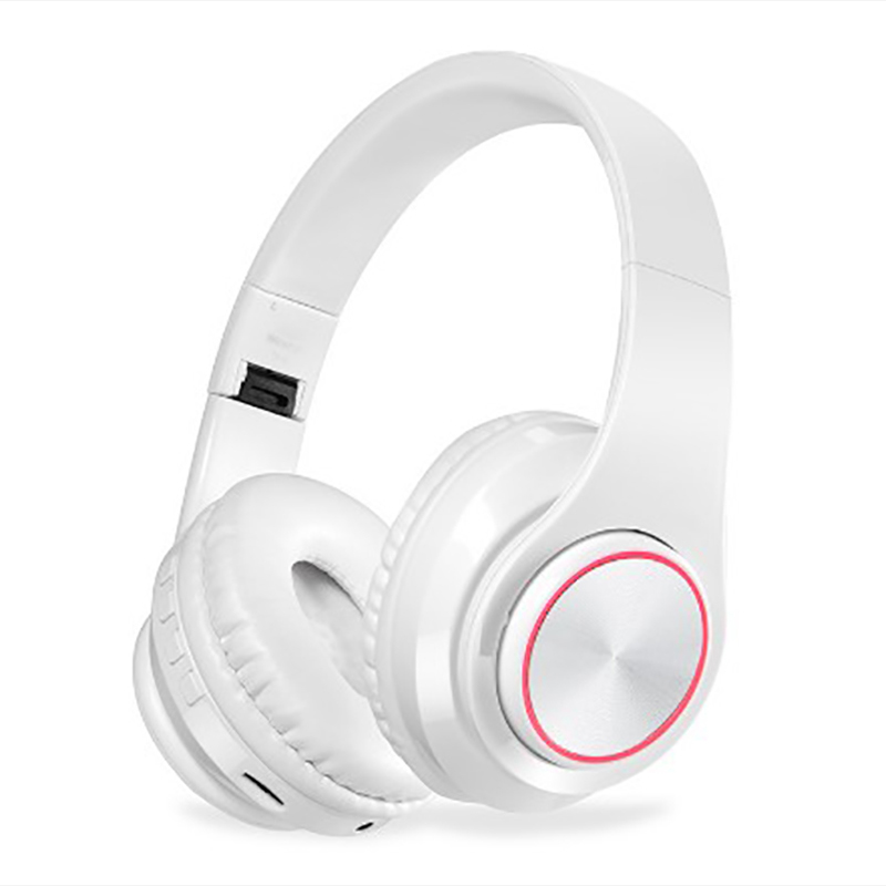 Smart Bluetooth headphone sport muisc stereo noise cancelling wired wireless foldable support TF card seven color light emitting in Bluetooth Earphones Headphones from Consumer Electronics