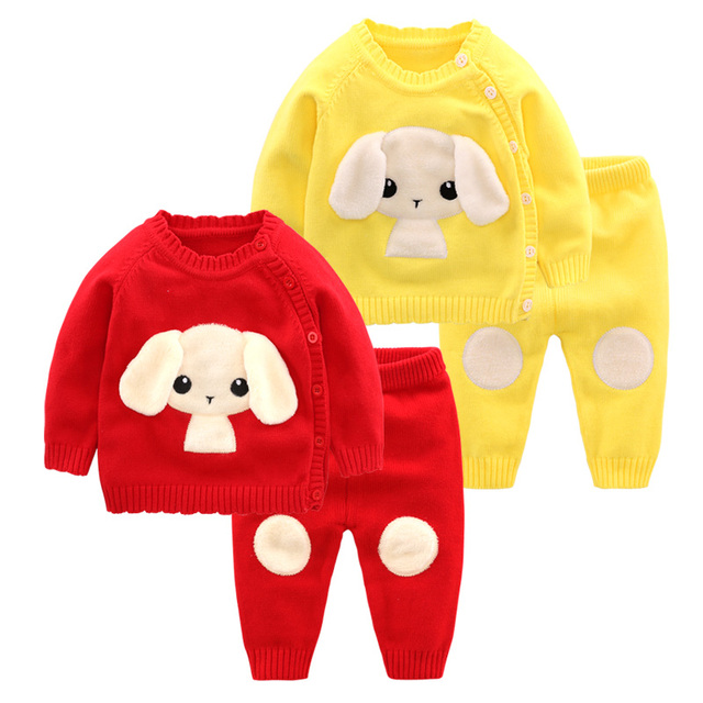 Newborn Baby Set 2 PC, Sweater + Trousers Set