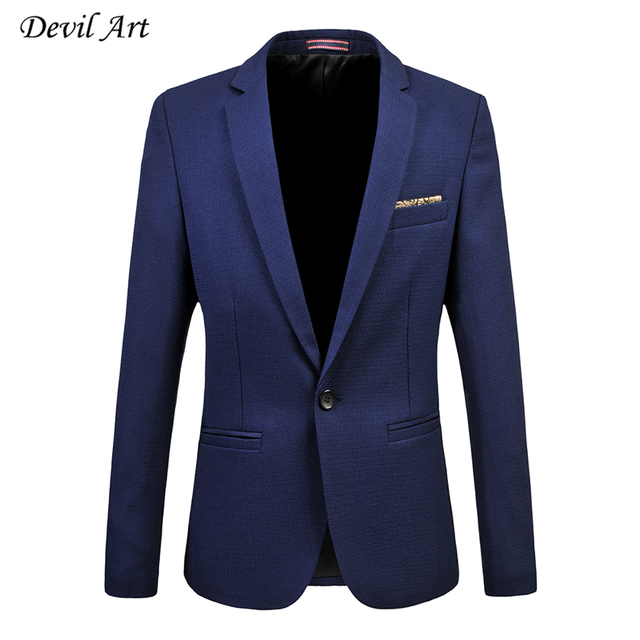 Men's Suit Jackets Fashion Business One Button Casual Blazer Suit Slim Veste Homme Mariage Free Shipping Plus Size:5XL 6XL 515