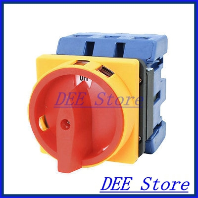 цена на 660V 80A AC 2 Position Rotary Cam 6 Terminals Universal Combination Switch