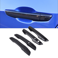 8x Car Styling Front Rear Door ABS Carbon Fiber Style Exterior Outer Door Handle Cover Trim