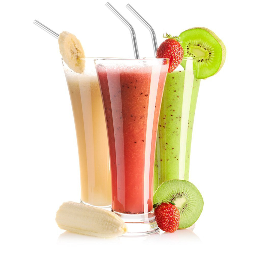 2/4/8Pcs Reusable Drinking Straw With High-Temperature Resistance For Party And Home Use 4