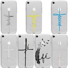 Um fe cristo religiosa jesus cruz fosco tpu macio silicone caso de telefone para o iphone 12pro 11promax x xr xs max 8 7 6s mais se 12mini