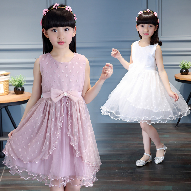 2018 New Brands Girl Dresses 3-12 Years Princess Dress For Baby Girl Kids Clothes Summer Dress Teenage Children's Clothes baby girl dress summer casual dresses 2018 kids clothes 100