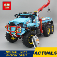 LEPIN 20056 1912Pcs Technic Series The Ultimate All Terrain 6X6 Remote Control Truck Set Building Blocks Bricks Toy Clone 42070