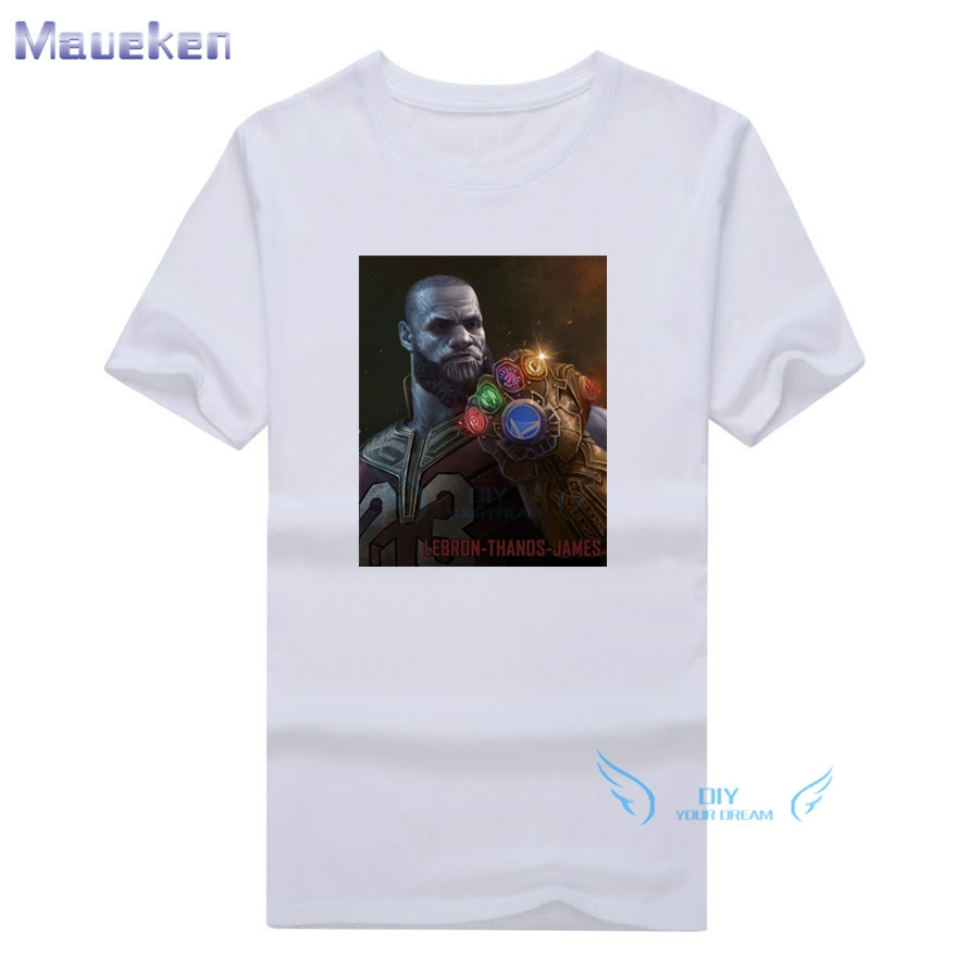 High Quality Men Lebron Thanos James T Shirt Casual Short Sleeve O