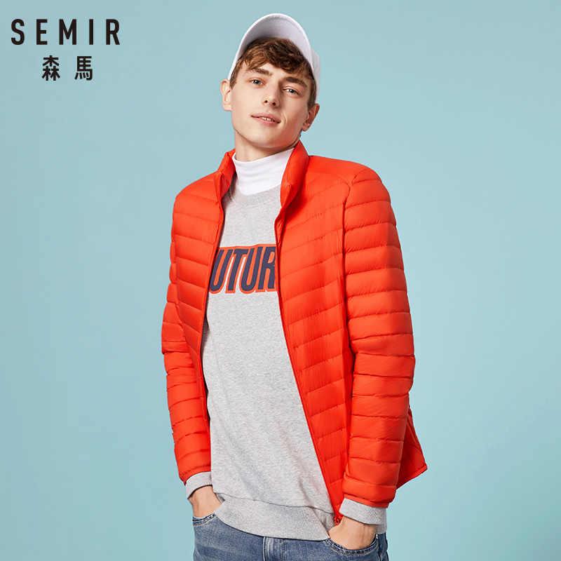 SEMIR 2018 пуховик мужской зимний Портативный Теплый 90% белый утиный пух с капюшоном мужская Куртка jaqueta masculino chaqueta hombre