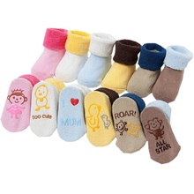 0-12 Mouths 6 Color Winter Unisex Meias Infant Newborn Cute Chaussette Baby Girl Cotton Animal Room Socks With Rubber Soles Slip