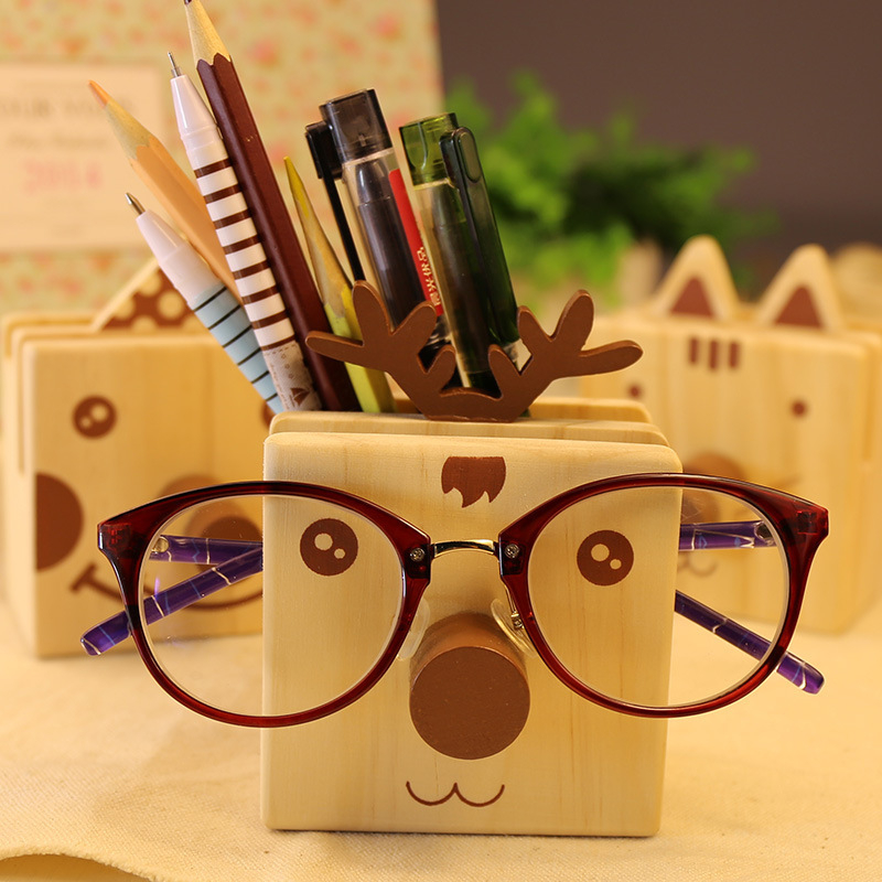 Creative office supplies wooden multifunctional storage box pen holders multifunctional pen container Glasses shelf nice gifts coloffice 1pc creative 21 8 5 28cm wooden bookends multifunctional storage retro key box wall decoration desktop bookend supplie