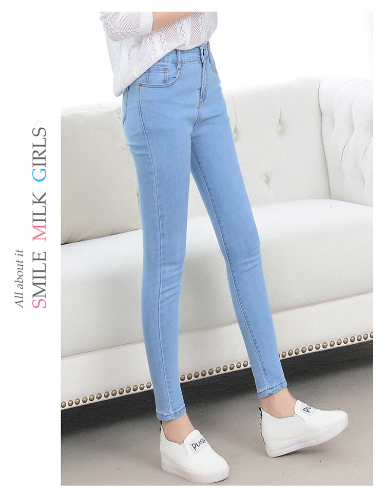 Denim Jeans Womens High Waist Stretch Pencil Skinny Ankle-length Pants Femme Black Blue Push Up 2020 Elastic Slim Streetwear0001