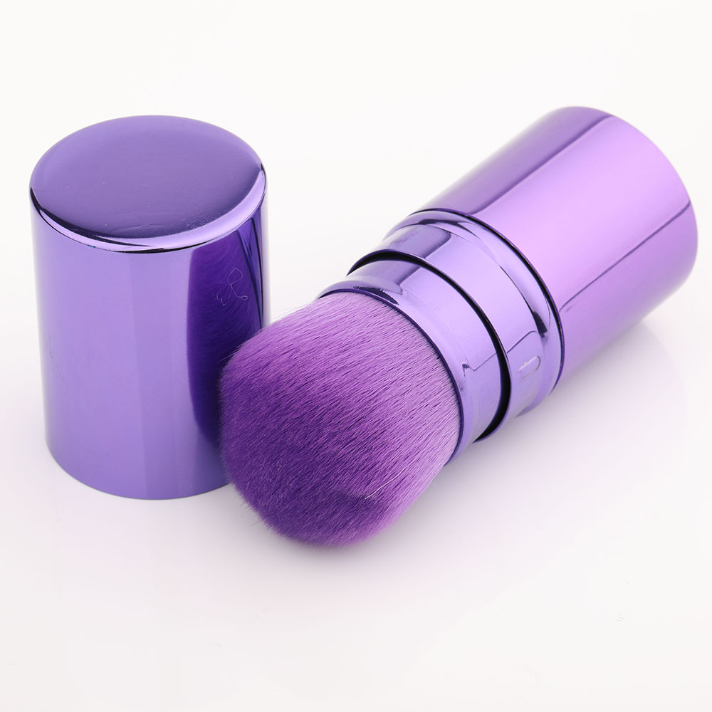 Hot Sell Brand Fashion Pro Retractable Makeup Blush Brush Powder Cosmetic Adjustable Face Powder Brush cosmetic Brush in Eye Shadow Applicator from Beauty Health