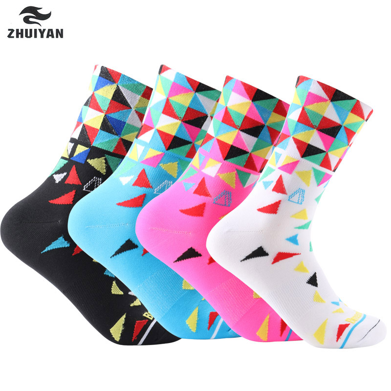 8 colors New Cycling Socks Male Female Professional Outdoor Sports Basketball Socks Mountain Bike Race Socks S10