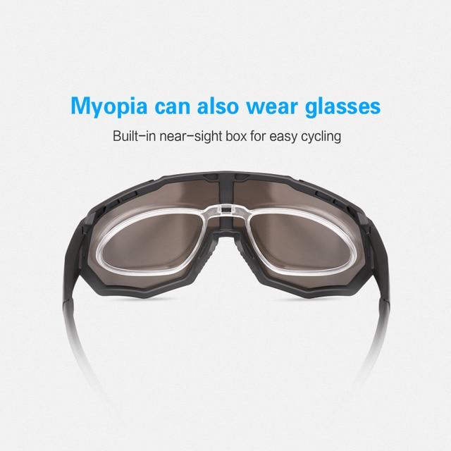 Óculos 5 lentes polarizadas para ciclismo, armação para miopia, óculos de sol para andar de bicicleta e esportes ao ar livre, unissex, X-TIGER 5