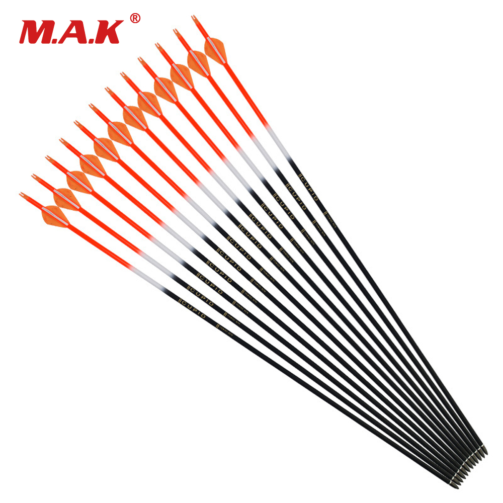 32 inches Mixed Carbon Arrow Spine 600 Outer Diameter 7.6 mm Inner diameter 6.2 mm for Archery Hunting