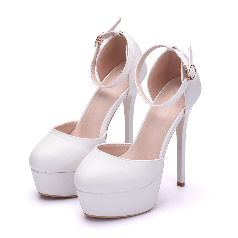 Handmade 2018 Fashion Crystals Round Toe Women Shoes Sandals Sexy Thin High-heeled Party Shoes Women Wedding For Bride XY-A0086