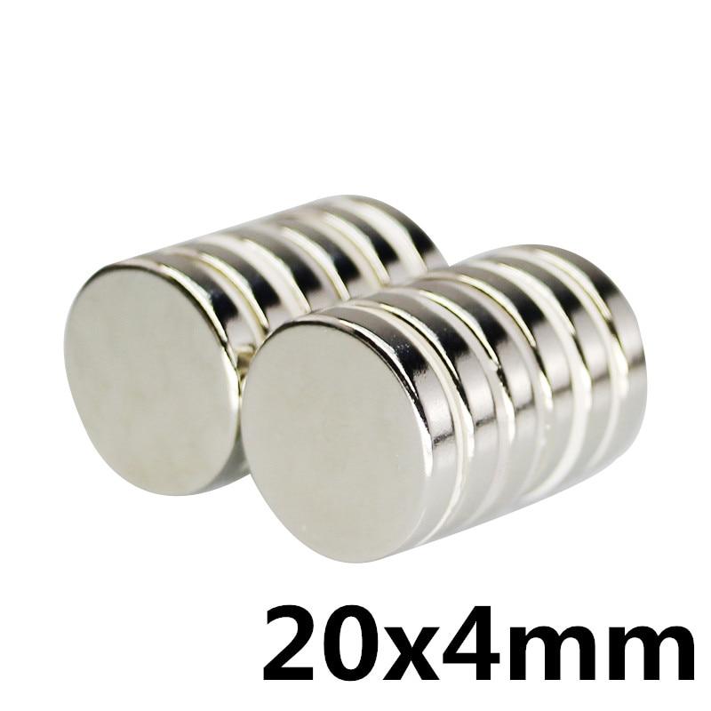 5pcs 20x4 Small Round NdFeB Neodymium Disc Magnets Dia20mm X 4mm N35 Super Powerful Strong Rare Earth Magnet