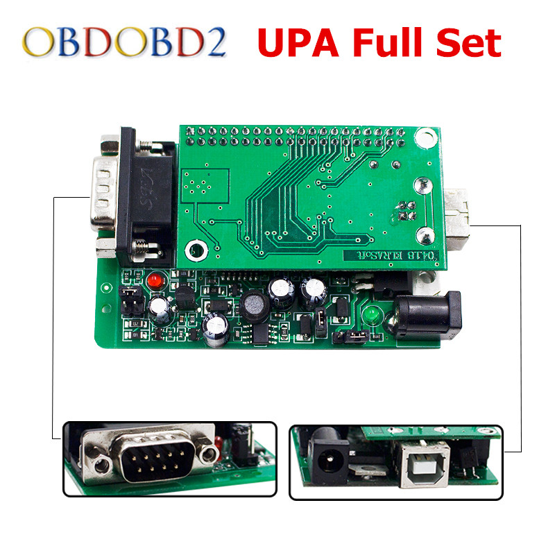 Newest UPA USB Serial Programmer V1.3.0.14 Read EEPROM ECU Chip Tuning Green PCB Adapter Full Set UPA-USB V1.3 unlimited tokens ktag k tag v7 020 kess real eu v2 v5 017 sw v2 23 master ecu chip tuning tool kess 5 017 red pcb online