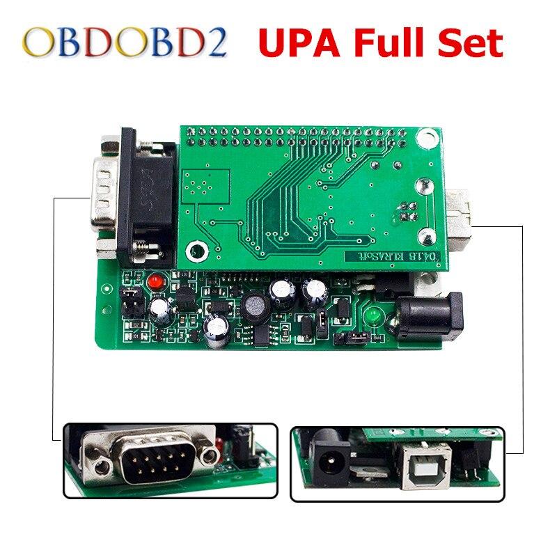 Newest UPA USB Serial Programmer V1.3.0.14 Read EEPROM ECU Chip Tuning Green PCB Adapter Full Set UPA-USB V1.3