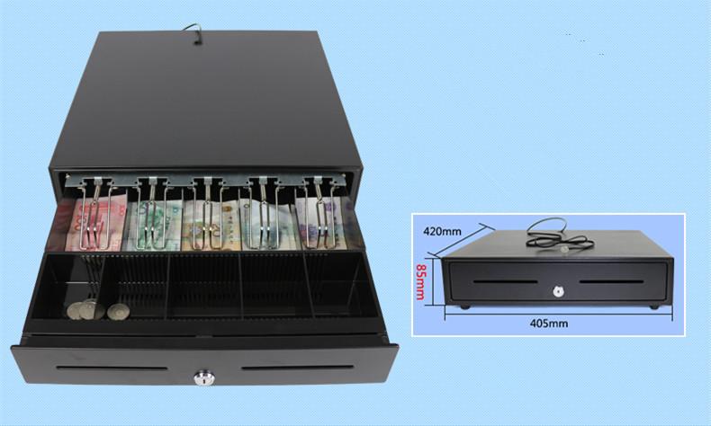 Prix pour 2016 nouveau Z420 cinq grille troisième vitesse verrouillage tiroir-caisse POS caisse enregistreuse POS caisse enregistreuse boîte tirelire boîte caisse enregistreuse 405