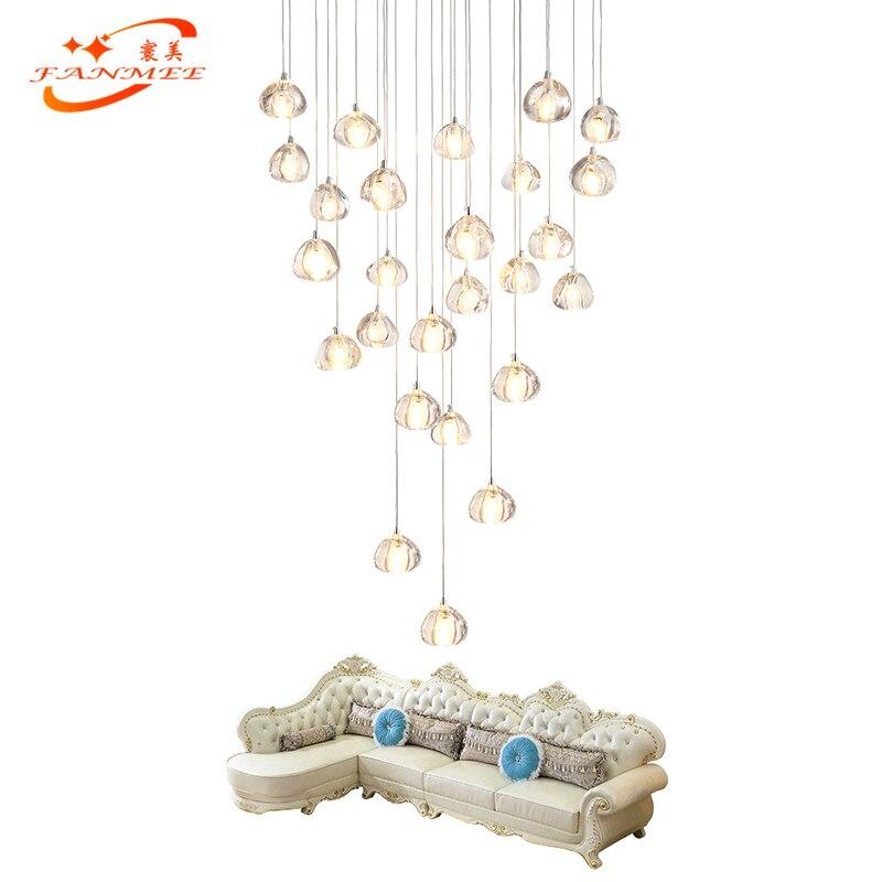 Luxury Modern Crystal Chandelier Lighting Stair Cristal Chandelier Hanging Light Staircase Chandelier Lamp Ceiling ChandeliersLuxury Modern Crystal Chandelier Lighting Stair Cristal Chandelier Hanging Light Staircase Chandelier Lamp Ceiling Chandeliers