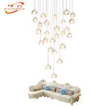 Luxury Modern Crystal Chandelier Lighting Stair Cristal Hanging Light Staircase Lamp Ceiling Chandeliers