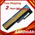 6 celdas de batería portátil para lenovo 3000 g430 g430a g430l g430le g430m g450 g450a g450m g530 g530a g530m n500 g550 ideapad g430