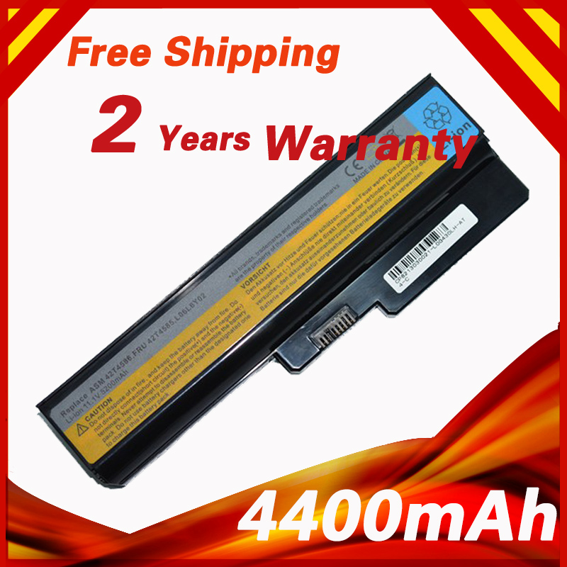 6 Cells Laptop Battery For Lenovo 3000 G430 G430A G430L G430LE G430M G450 G450A G450M G530 G530A G530M N500 G550 IdeaPad G430
