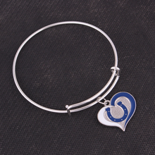 Classic Colts Baltimore Ravens Chicago Cubs Cardinals  State UK Football team logo swirl Adjustable charm Bangle