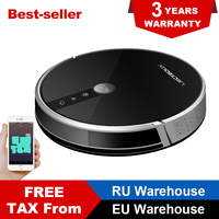 LIECTROUX C30B Robotic Vacuum Cleaner 2D Map Navigation, 3000Pa Suction,Memory, Map Shown on WiFi App, 350ml Electric Water Tank
