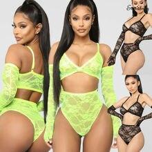 Womens Sexy Lingerie Hot Exotic Sets Lace Sleepwear Transpar