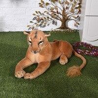 about 60cm female lion plush toy simulation prone lion soft doll birthday gift w0675
