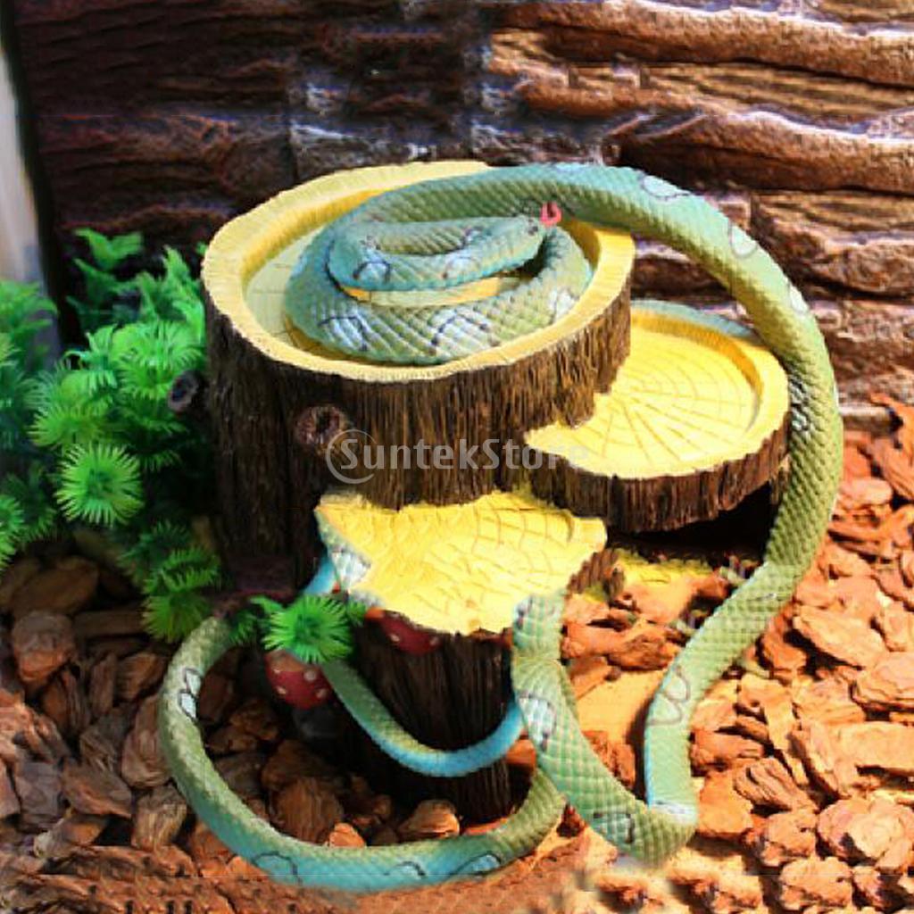 reptile vivarium terrarium decoration hide cave feeding bowl lizard gecko water worm feeder in. Black Bedroom Furniture Sets. Home Design Ideas