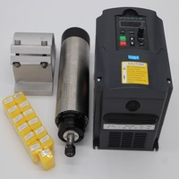 1.5KW air cooling spindle motor 65mm diameter ER11 24000rpm + 13 pieces ER11 collet+ 1 piece 1.5kw inverter+1 spindle support