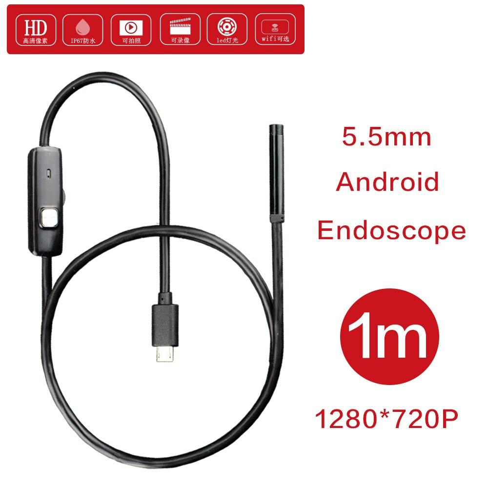 Z105 6led 5.5mm1280*720 Ohr Endoskop Wasserdichte Inspektion Endoskop Kamera Für Android Pc & Notebook Gerät Gesundheitswesen
