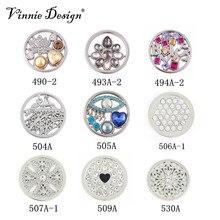 Vinnie design ювелирные изделия посеребренные монета диск 33 мм, пригодный для большой кулон монета держатель смешанные дизайн 9 шт./лот