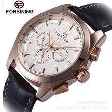 FORSINING New Relogio Masculino Watches Men's DayWeek/24 Hours Automatic Mechanical Watch Wristwatch  Free Ship